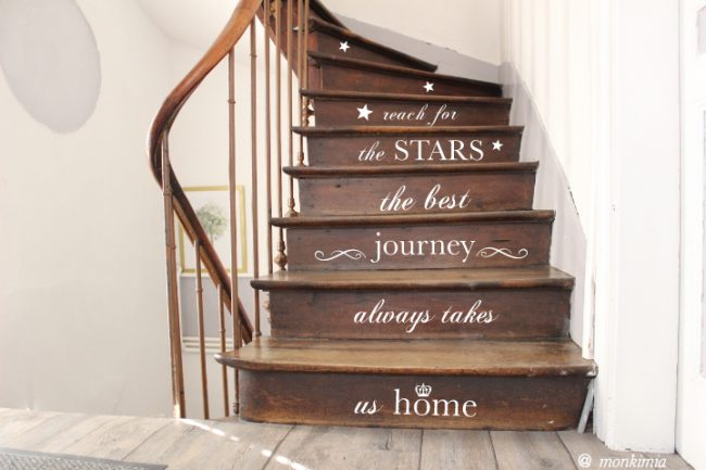 Treppenstufen-Aufkleber
