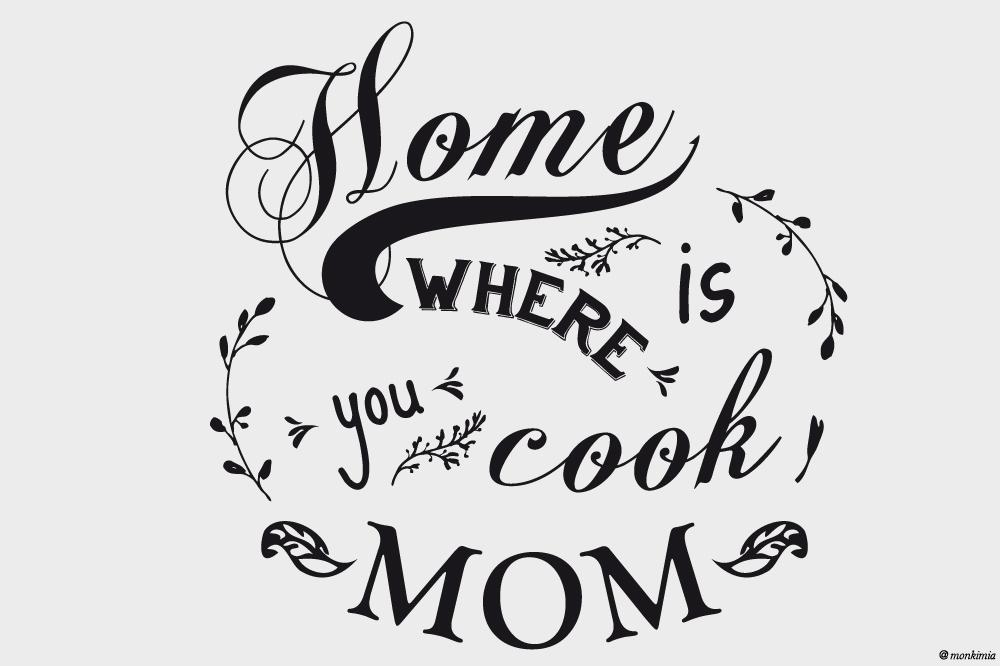 Wandtattoo Home is where you cook