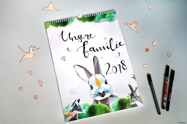 Familienplaner 2018 Monkimia Design