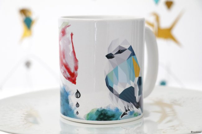 Tasse Melone Vogel Illustration