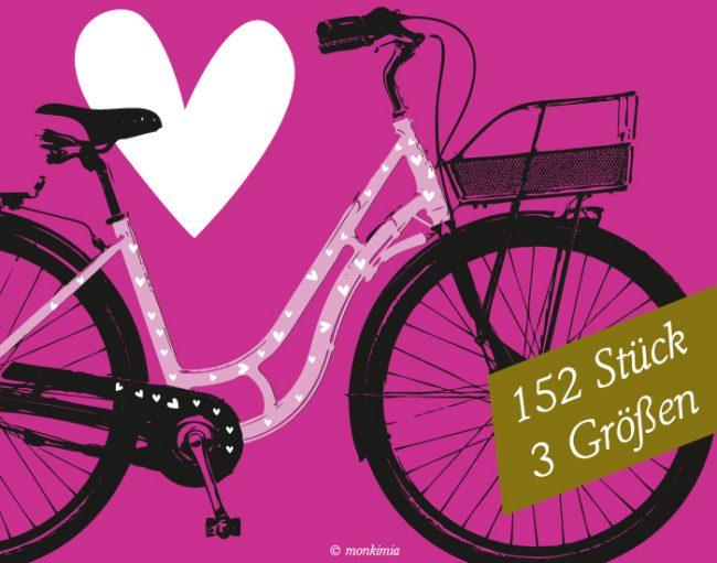 Fahrradaufkleber Herzen