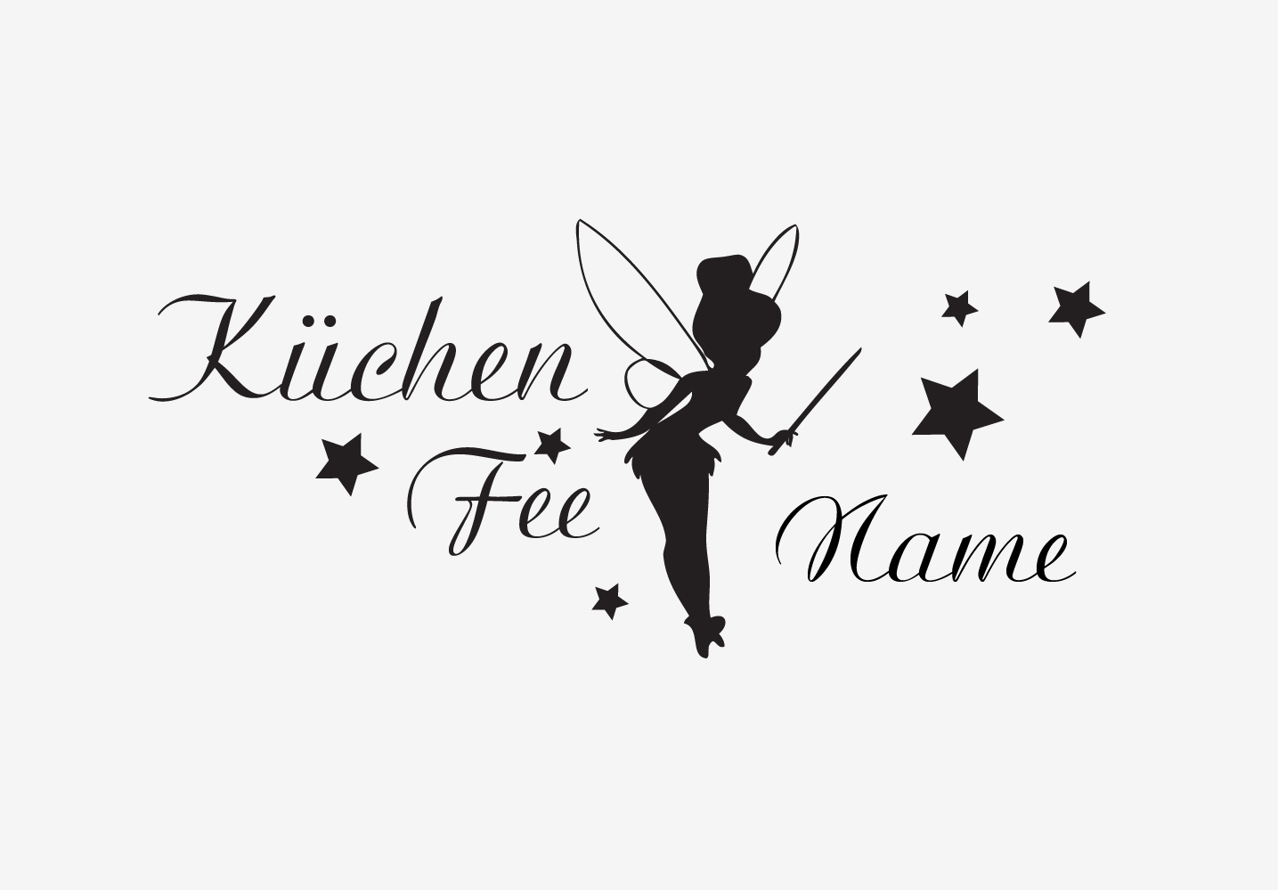 Möbelaufkleber Küchenfee Name