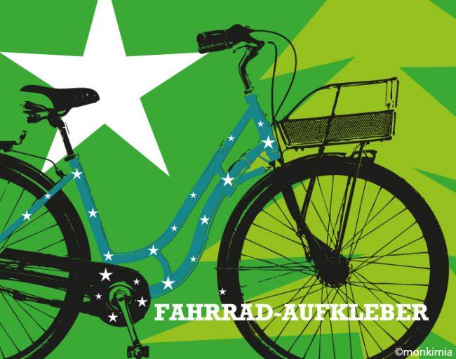 Fahrrad-Sticker Sterne
