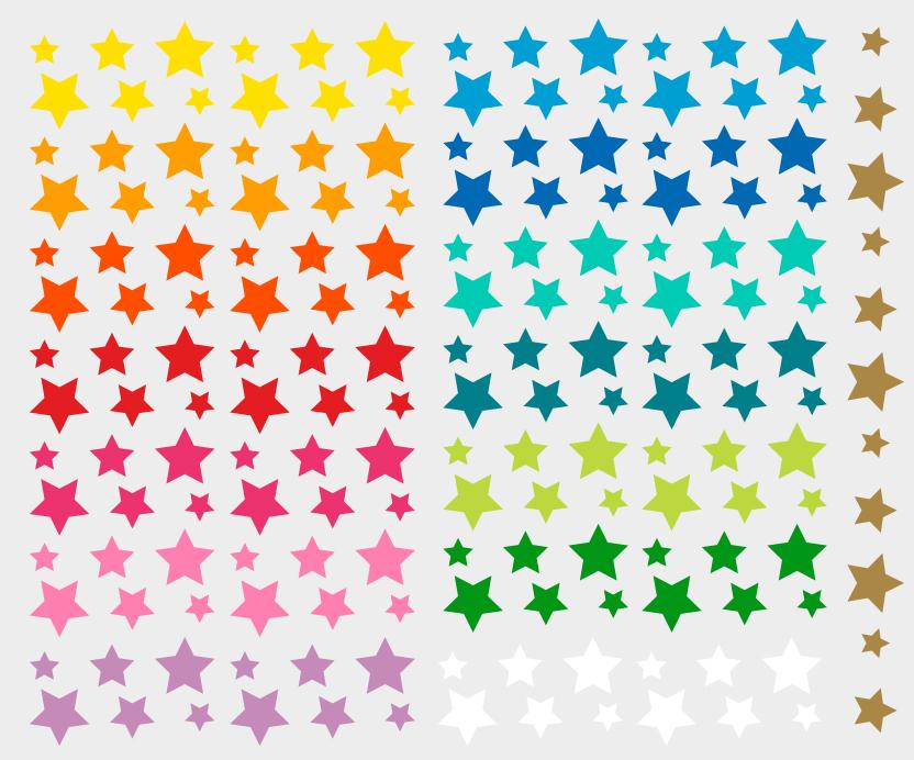 Fahrradaufkleber Stars Rainbow farben
