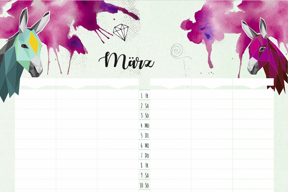 Familienkalender monkimia 2019