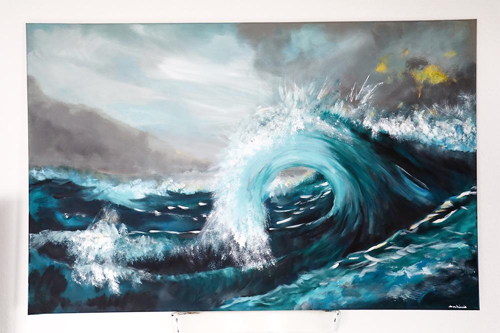 Kunst Leinwand Meer Wellen