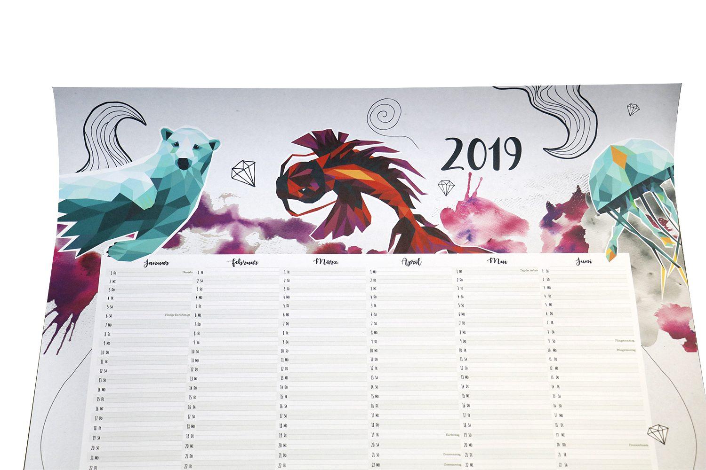 Kalender Plakat A1 2019