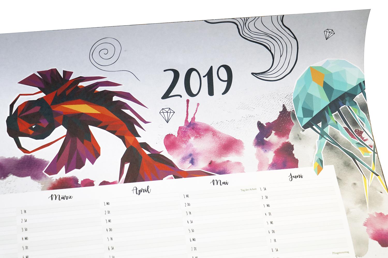 47+ Tren Gaya Design Wandkalender, Desain Kalender