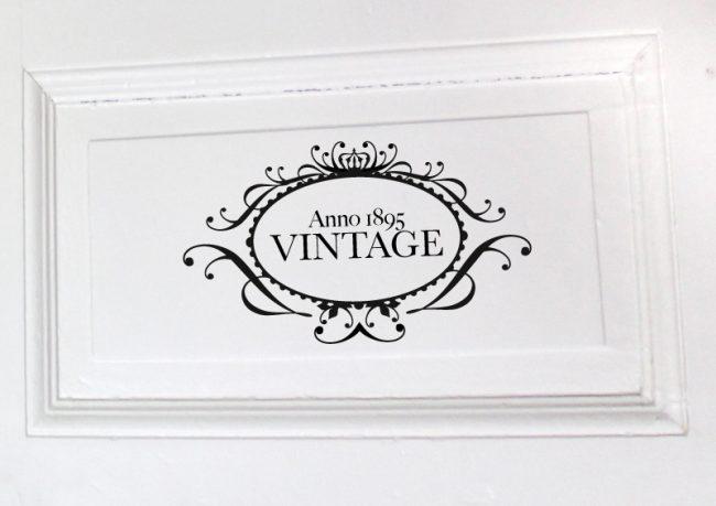 Aufkleber Anno 1895 Vintage