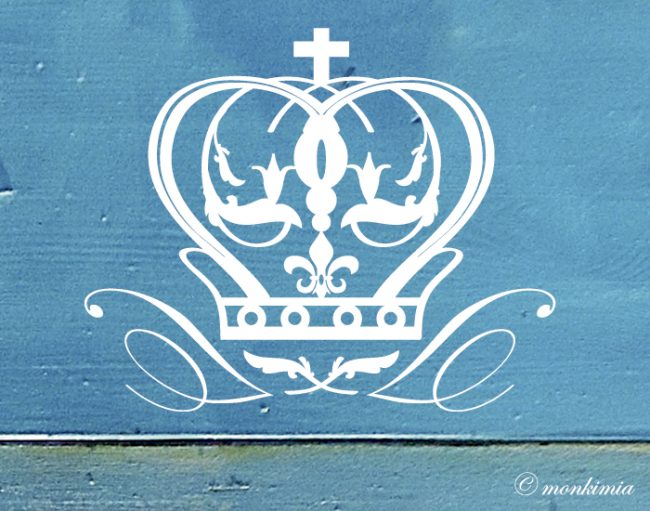 Krone Aufkleber