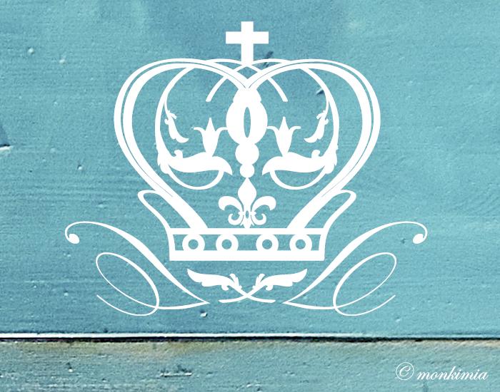 Möbeltattoo Krone