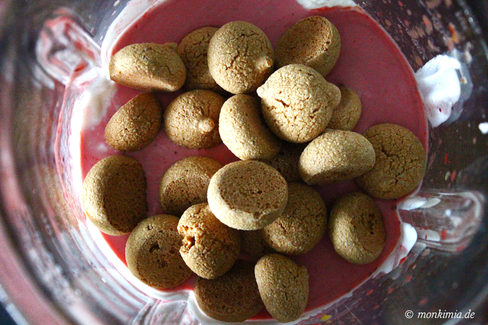 Milchshake Himbeeren und Mirabellen Rezept