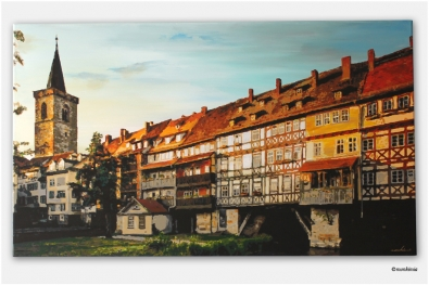 Krämerbrücke – Erfurt – Acryl auf Leinwand – monkimia – (120 cm x 60 cm) – Verkauft