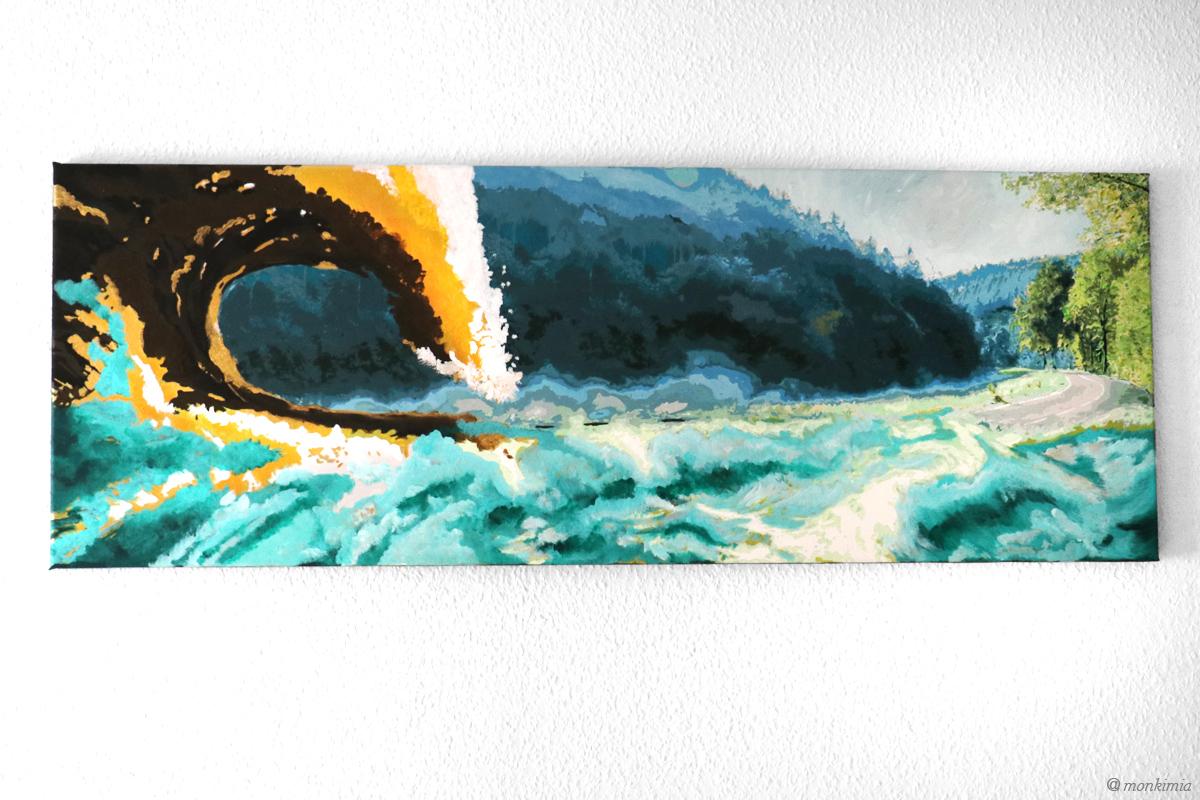 Kunst - Acryl - monkimia Überschwemmt