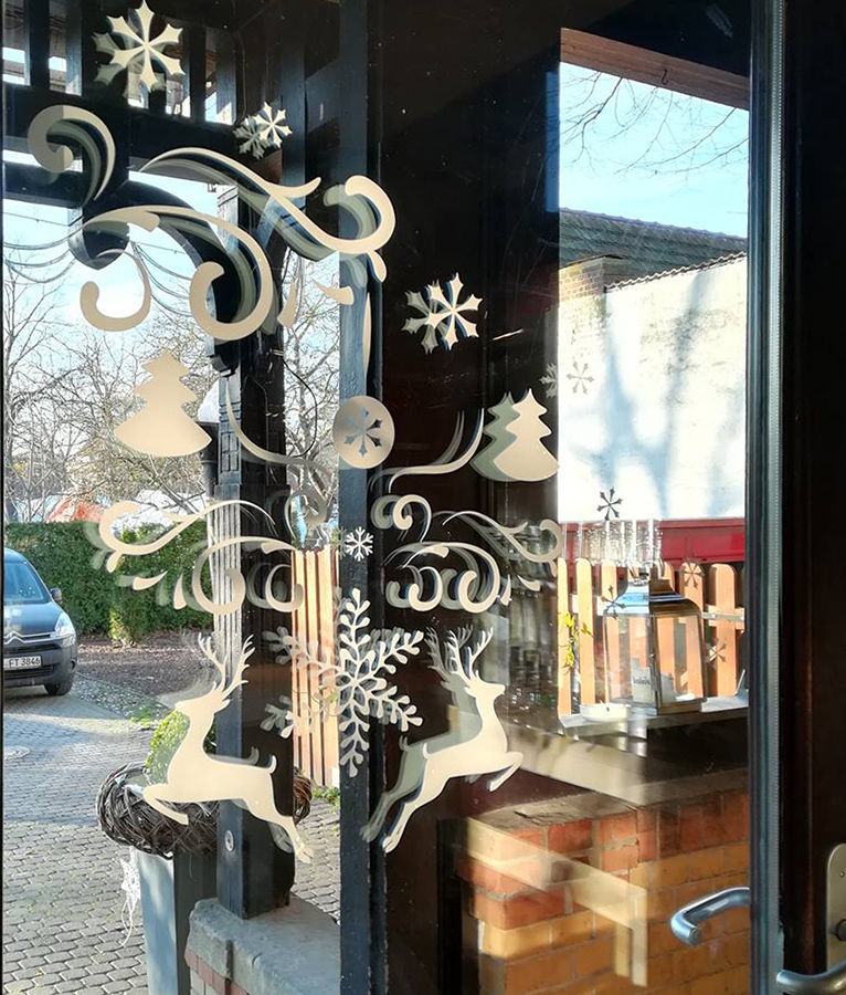 Olympia Zeuthen Fensterdekoration Winter