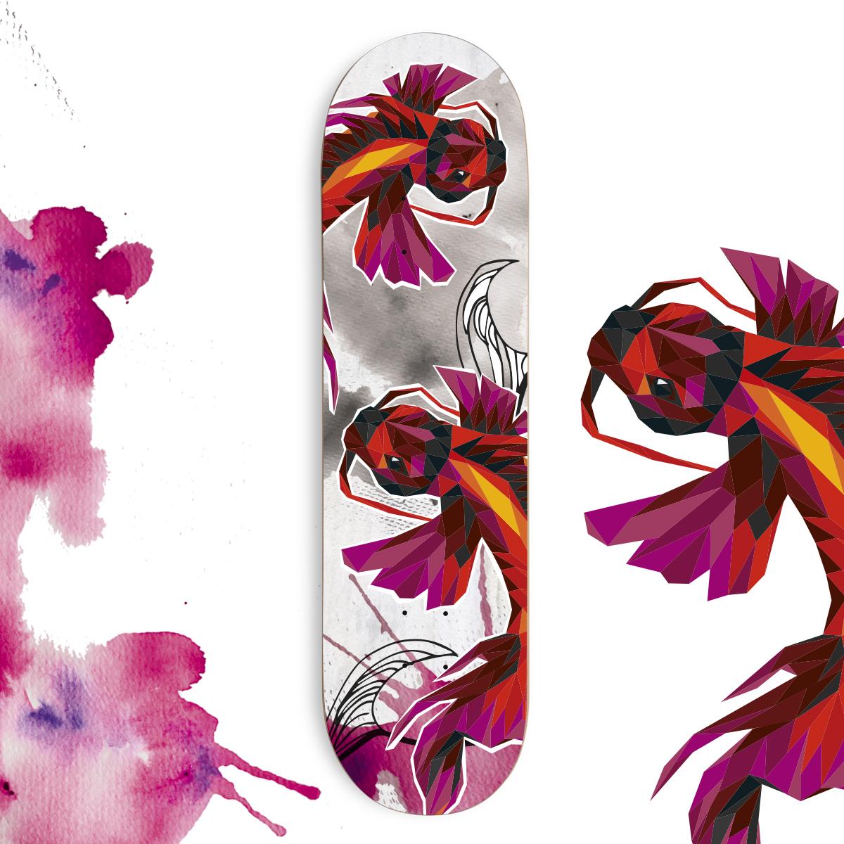 Skateboard Koi Dance
